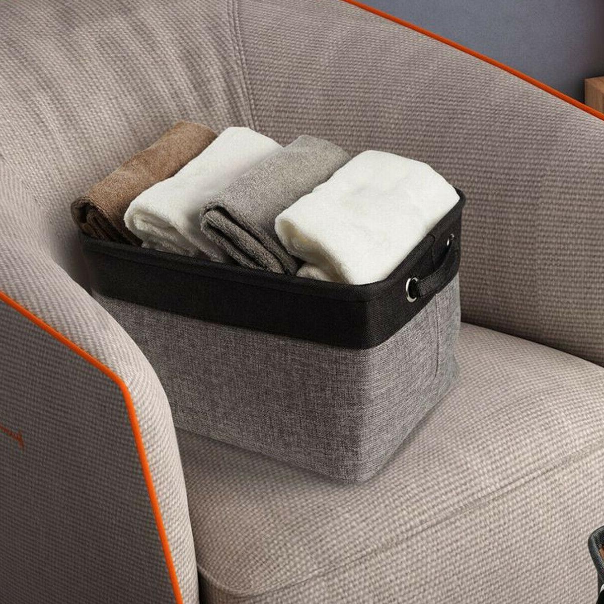 Foldable Washing Clothes Laundry Basket Toys Bag Organizer