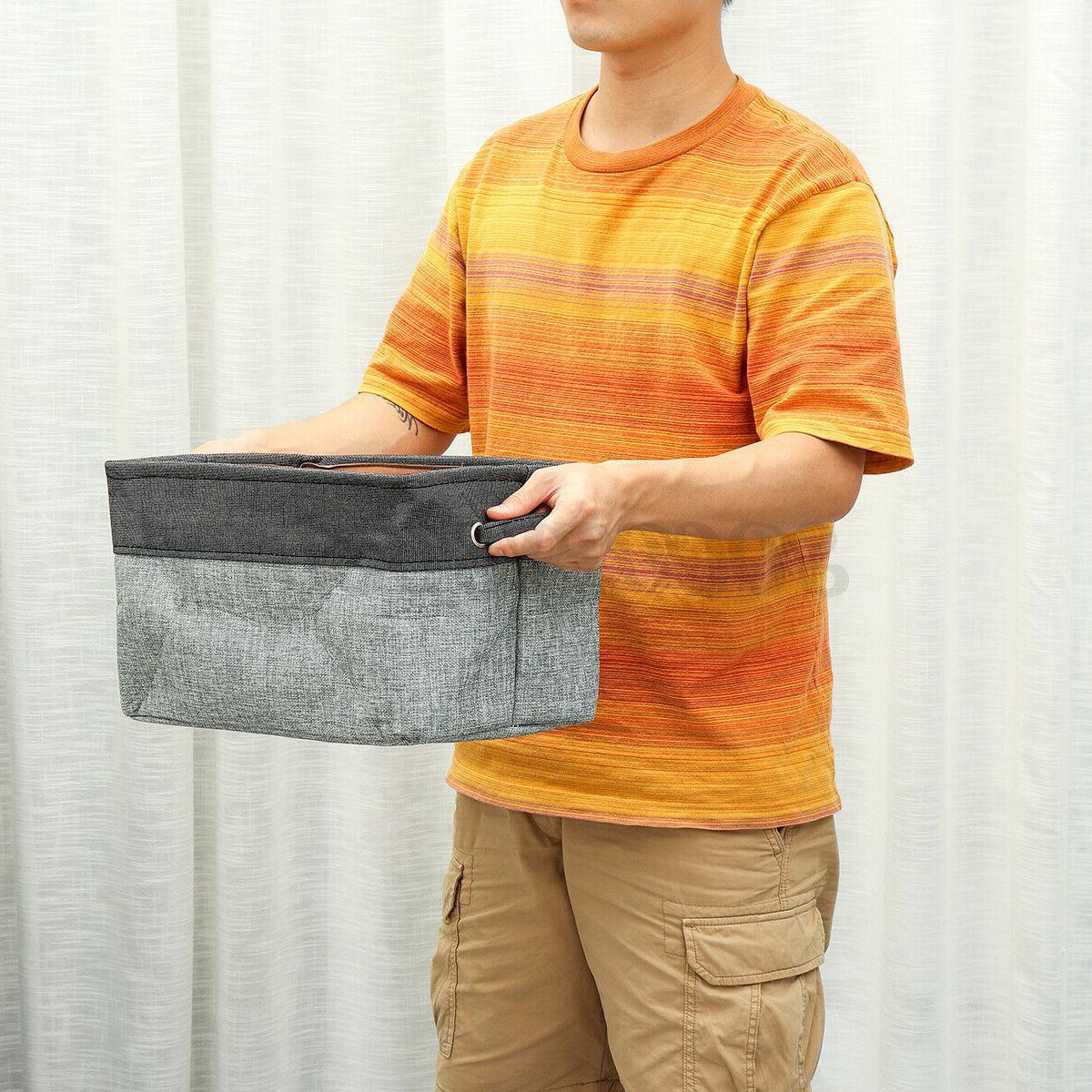 Foldable Washing Clothes Basket Bag Organizer Gery