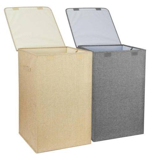 Foldable Laundry Hamper Basket Carts Sorter Clothes Storage
