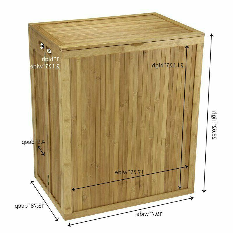 Wood Laundry Bathroom Cabinet Basket
