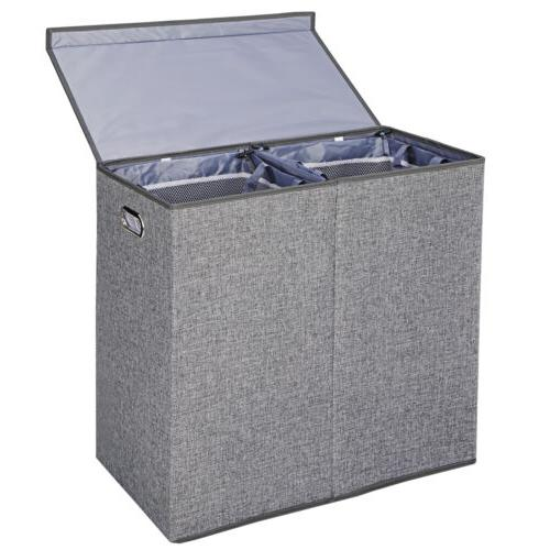 Foldable Laundry Hamper Clothes Basket and Removable