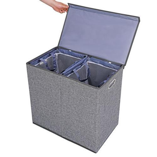 Foldable Double Hamper Clothes and Liners
