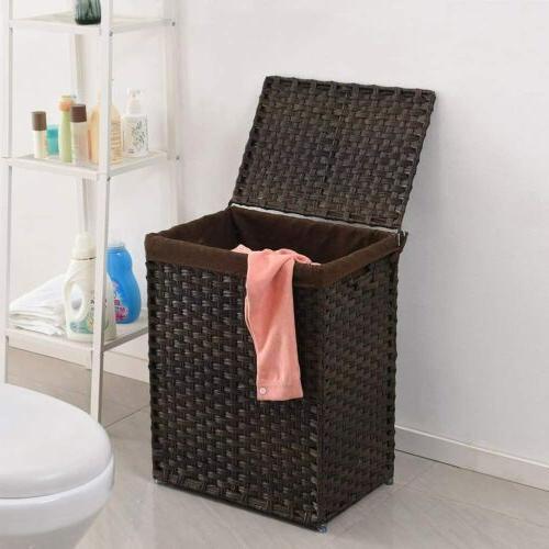Handwoven Basket Rattan Laundry Liner Bag
