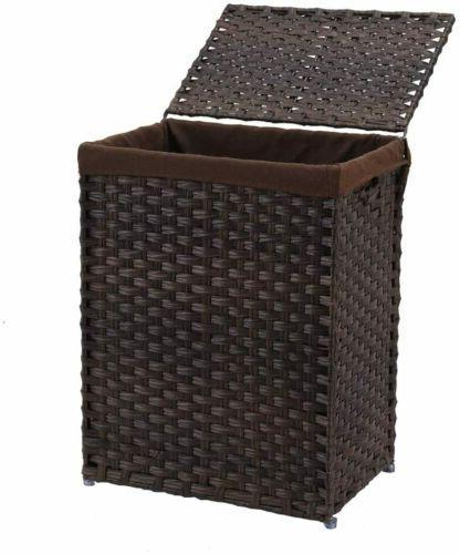 Handwoven Laundry Basket Rattan Laundry Hamper Liner
