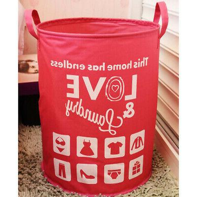 Home Bags Clothes Hamper Toy Rose Red