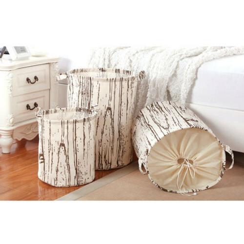 Home Laundry Clothes Organizer Basket Hamper Bin