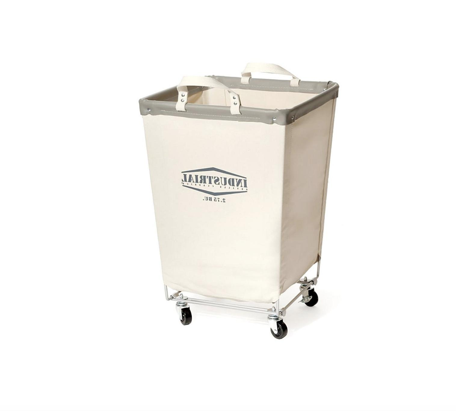 Large Canvas Laundry Cart Basket With Wheels Commercial Bin