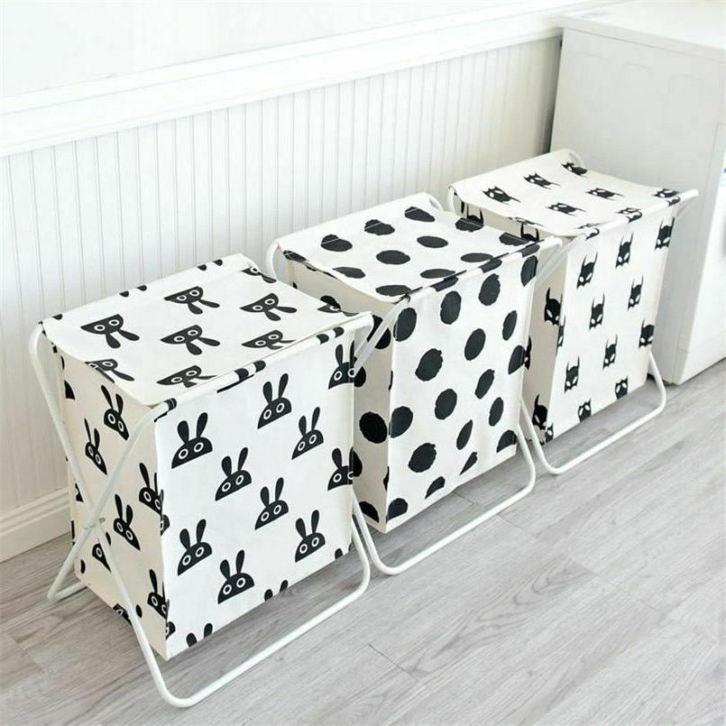 Large Basket With Cover Laundry Clothes Storage