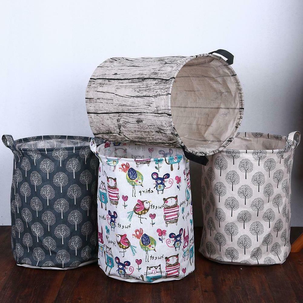 Canvas Foldable Large Storage Laundry Hamper Clothes Basket