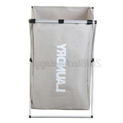 Laundry Sections Large Dirty Clothes Hamper Sorter Storage Tool