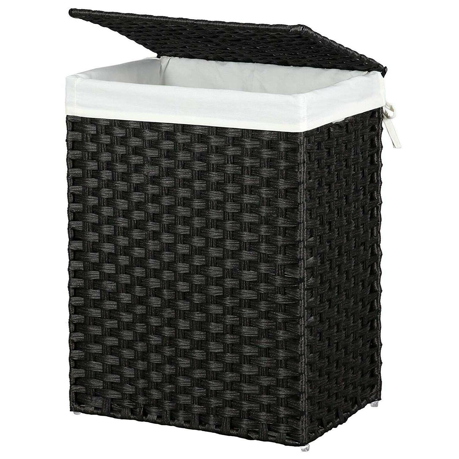Laundry Basket Handwoven Foldable Hamper Washing Clothes Rat