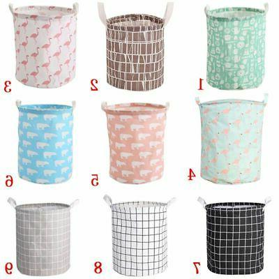 Foldable Laundry Basket Cotton Bag Storage