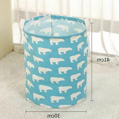 Foldable Hamper Basket Cotton Waterproof Bag