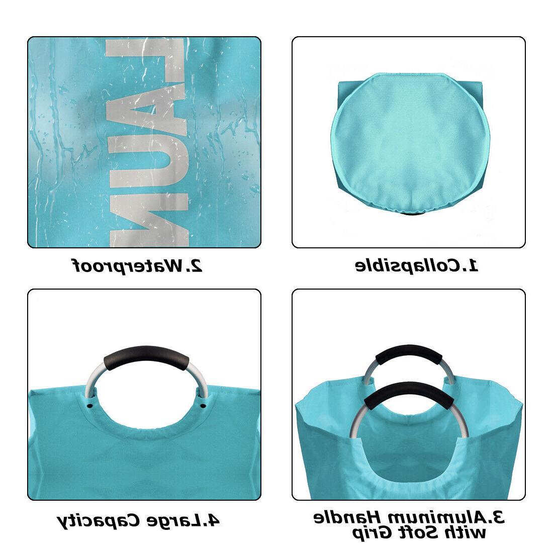 Laundry Basket Portable Clothes Laundry Bag Hamper Storage