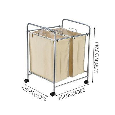 Laundry Hamper Basket Sort Roller Storage
