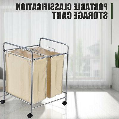 Laundry Basket Bag Sort Roller