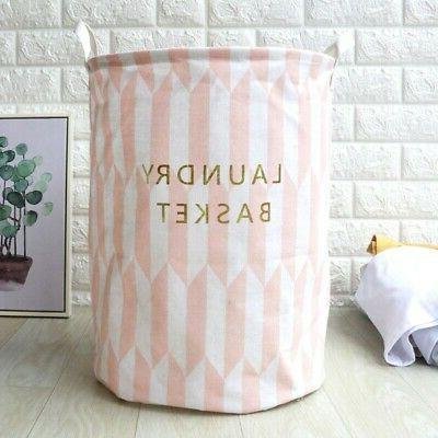 Laundry Basket Cotton Washing Foldable `