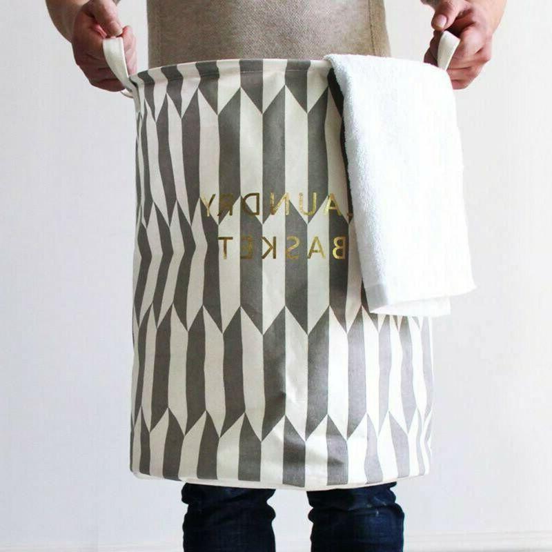 Foldable Waterproof Storage Laundry Hamper Clothes Basket La