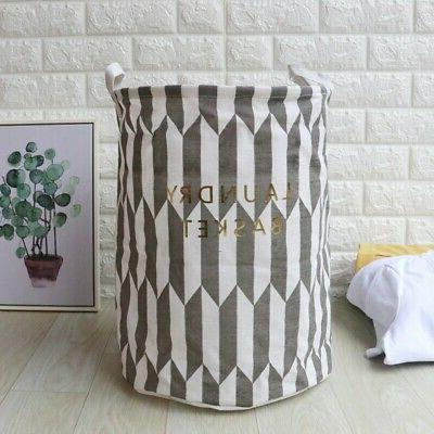 Laundry Hamper Clothes Cotton Foldable `