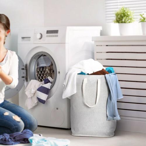 Foldable Hamper Laundry Basket Washing Cloth Storage Bag for
