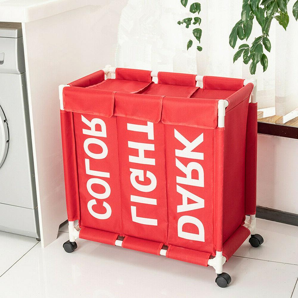 laundry hamper foldable laundry basket with 3