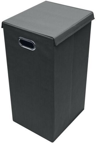 Laundry Hamper Basket Sorter Lid Closure Foldable Hamper Bin