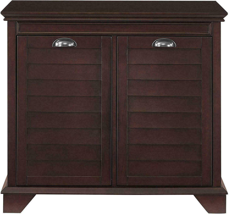 Laundry Double Linen Cabinet Espresso Wood