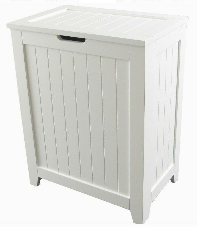 laundry hamper with lid wood bathroom organizer