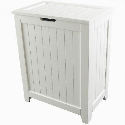 Laundry Hamper With Lid Wood Bathroom Organizer 2 Loads Stor