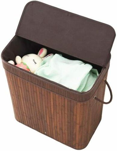 Laundry Hamper Liner Basket with Lid Handles