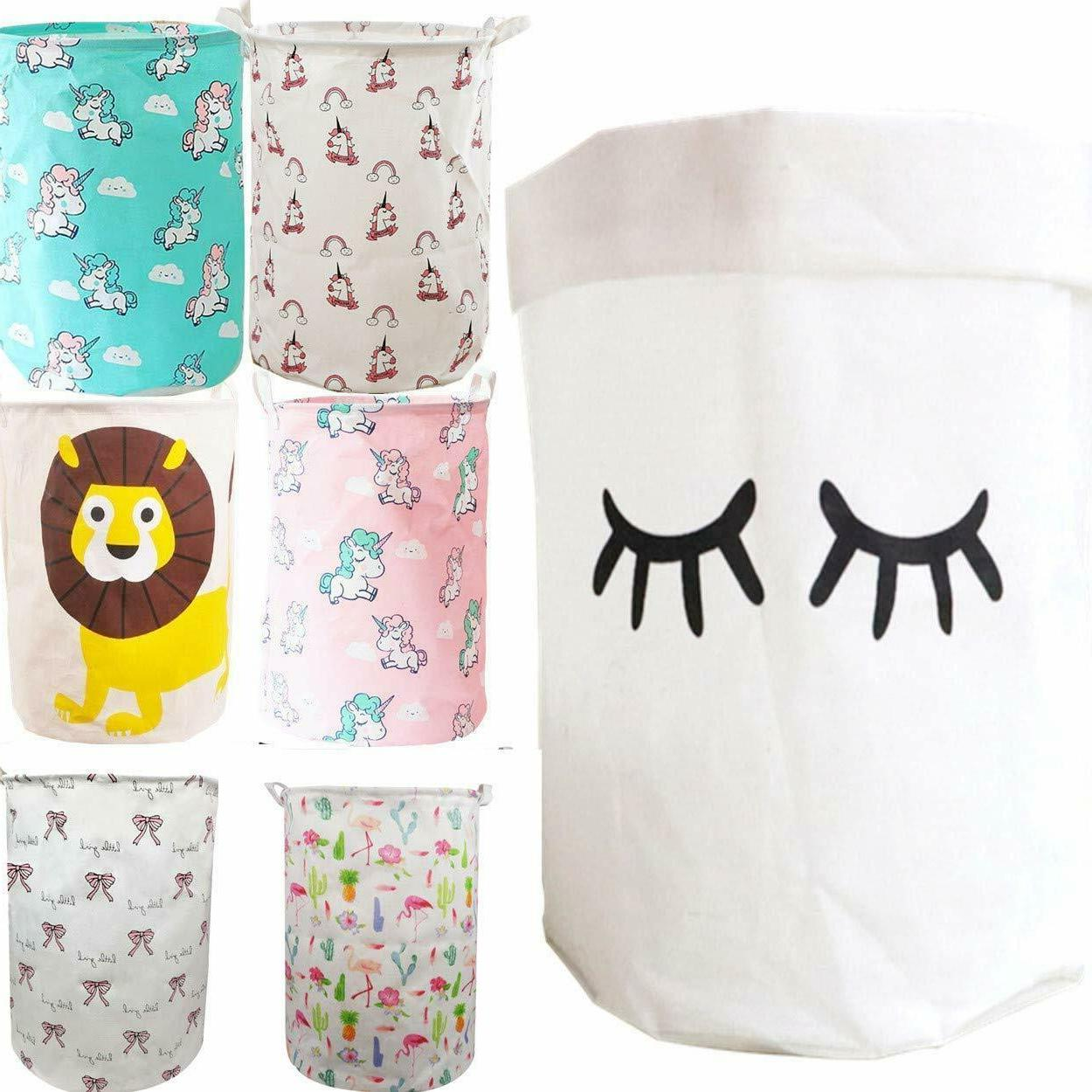Laundry Hampers Canvas Bin With Clothes