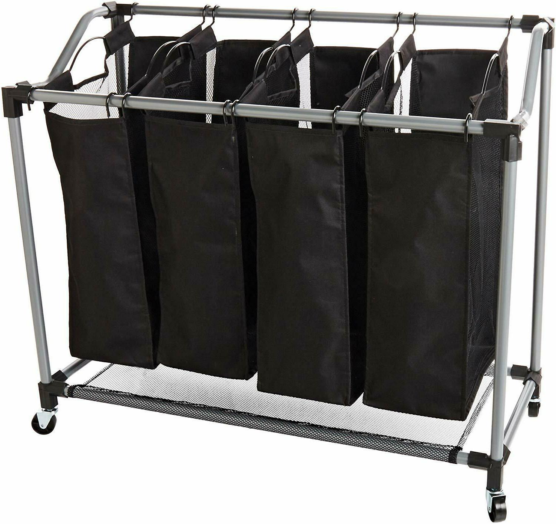 Laundry Sorter Basket Bin Cart Bags Washing Clothes