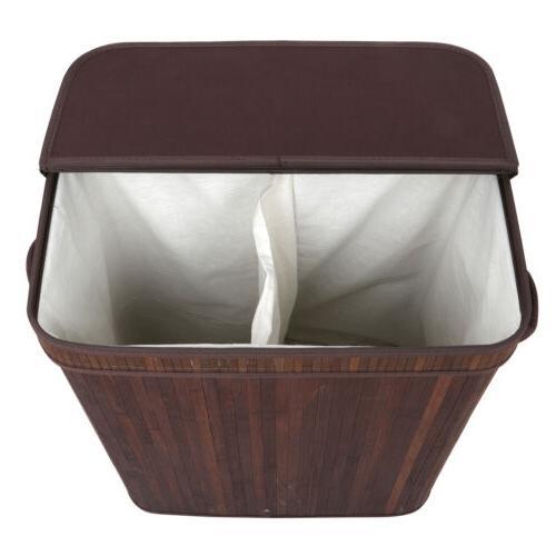 lightweight laundry hamper bamboo clothes basket storage