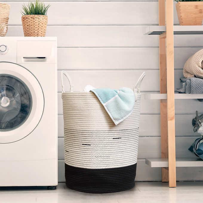 Mesa Cotton Rope Laundry Hamper Storage Clothes Towels