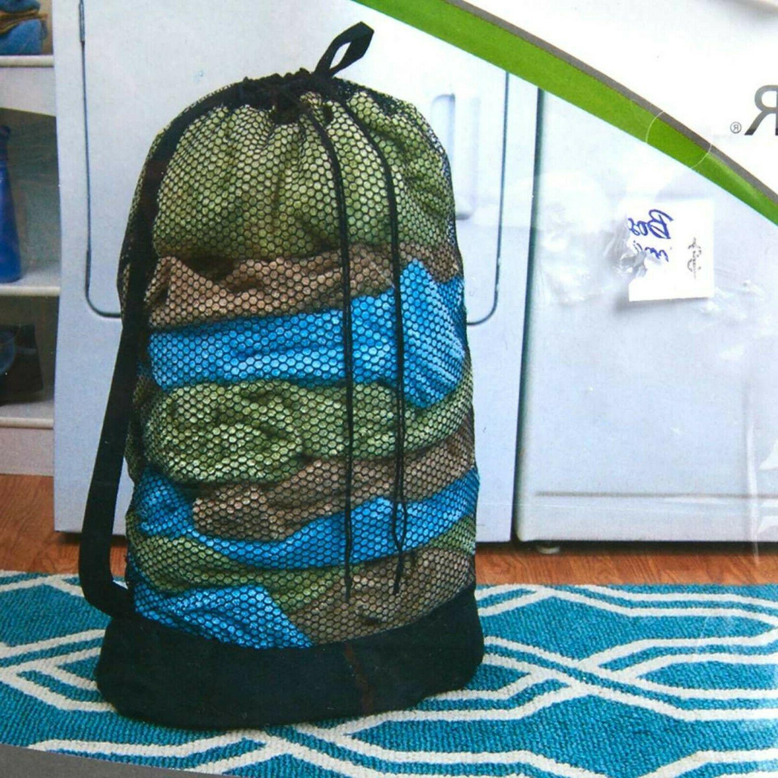 """Mesh Compact Laundry Bag Dorm Room Hamper 36"""" x 24"""" 3 Load C"""