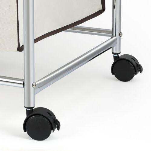 Rolling Laundry Organizer Basket with Wheels,3 Removable