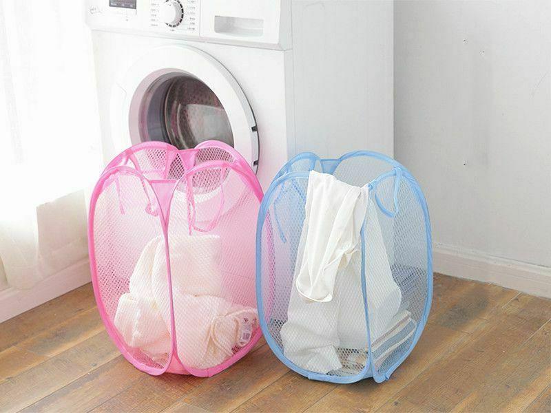 Pop Basket Hamper Washing Dirty Clothes Bag Bin