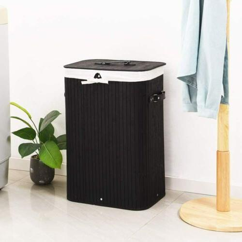 Portable Laundry Hamper with Handle Storage Clothes