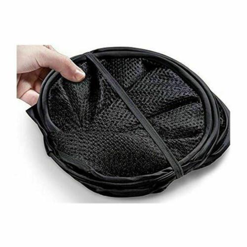 Portable Laundry Basket Hamper Mesh Bag Clothes Organizer Storage Cart