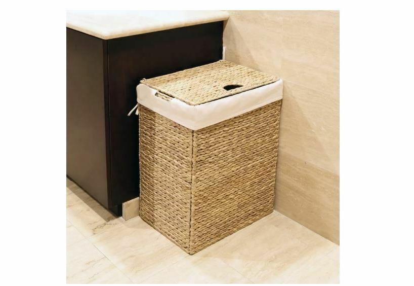 Portable Hamper with Heavy Duty Removable Canvas Bag Bedroom