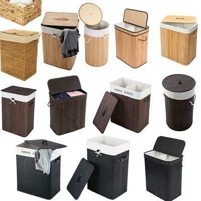 portable bamboo laundry hamper basket duty clothes