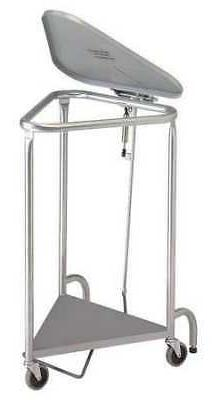 R&B WIRE PRODUCTS INC. 669-KD Laundry Hamper Cart,1 Comp,Gry