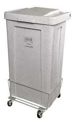 R&B WIRE PRODUCTS INC. 693 Laundry Hamper Cart,1 Comp,Wht,3.