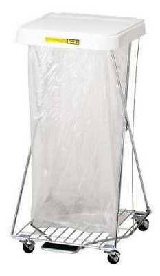 R&B WIRE PRODUCTS INC. 697 Laundry Hamper Cart,1 Comp,Wht,3.