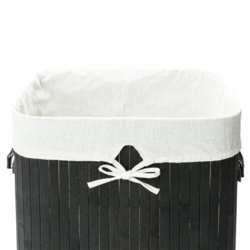 Rectangle Bamboo Hamper Washing Storage