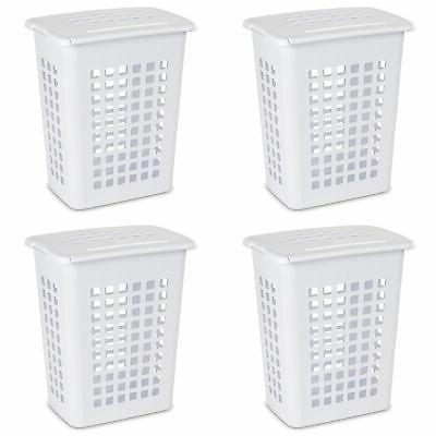 rectangular lifttop plastic clothes laundry hamper bin