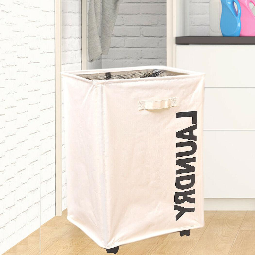 rolling laundry cart hamper dirty clothes basket
