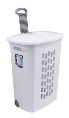rolling laundry hamper basket clothes portable wheeled