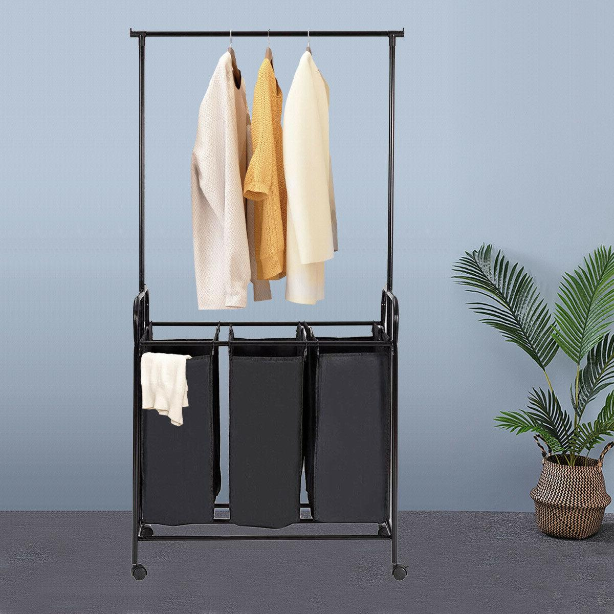 Rolling Laundry Hamper Sorter Cart with