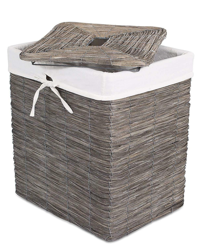 BirdRock Woven Wood Peel Hamper with in Box!